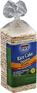 Paskesz Rice Cake Thin Square Plain, 4.9-Ounce Packages (Pack of 12)