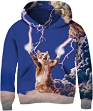 TUONROAD 3D Print Kids Pullover Hoodies Casual Hooded Sweatshirts Tops with Pocket for Age5-14 Boys Girls