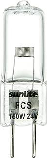 Sunlite FCS 150W/T4/24V/CL/G6.35 150-watt 24-volt Bi-Pin Based Stage and Studio T4 Bulb, Clear