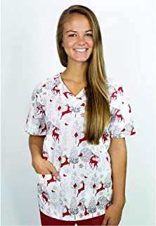 a0032f469fd Amazon.com: 6X - Scrub Tops / Medical: Clothing, Shoes & Jewelry