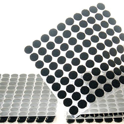 TUKA 900 Piezas(450 Pares) 10mm pegajoso Monedas Puntos, Adhesivos Círculos, Almohadillas Adhesivos, Gancho y Bucle Círculos Auto-Adhesivo, Negro, TKB5025 Black