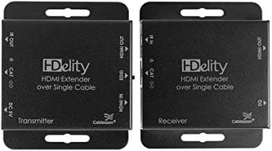 Cablesson HDElity HDMI 3D Extender Single Cat5/6 (Bi-Directional IR) with Local Out - 1080p Full HD (164 ft / 50m) / 720p ...