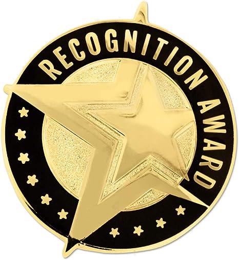 Gold Coloured Star Metal Lapel Pin Badge Class Merit Prize 25mm