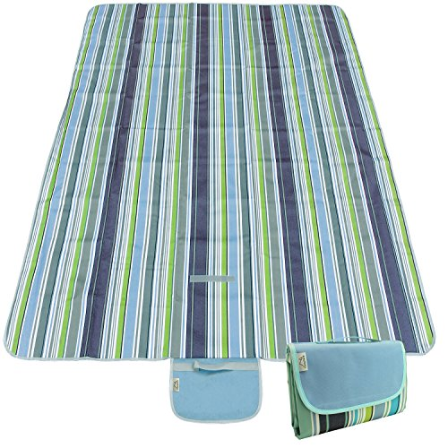 CampTeck Extra Large (200 x 145cm) Folding Picnic Blanket Waterproof...