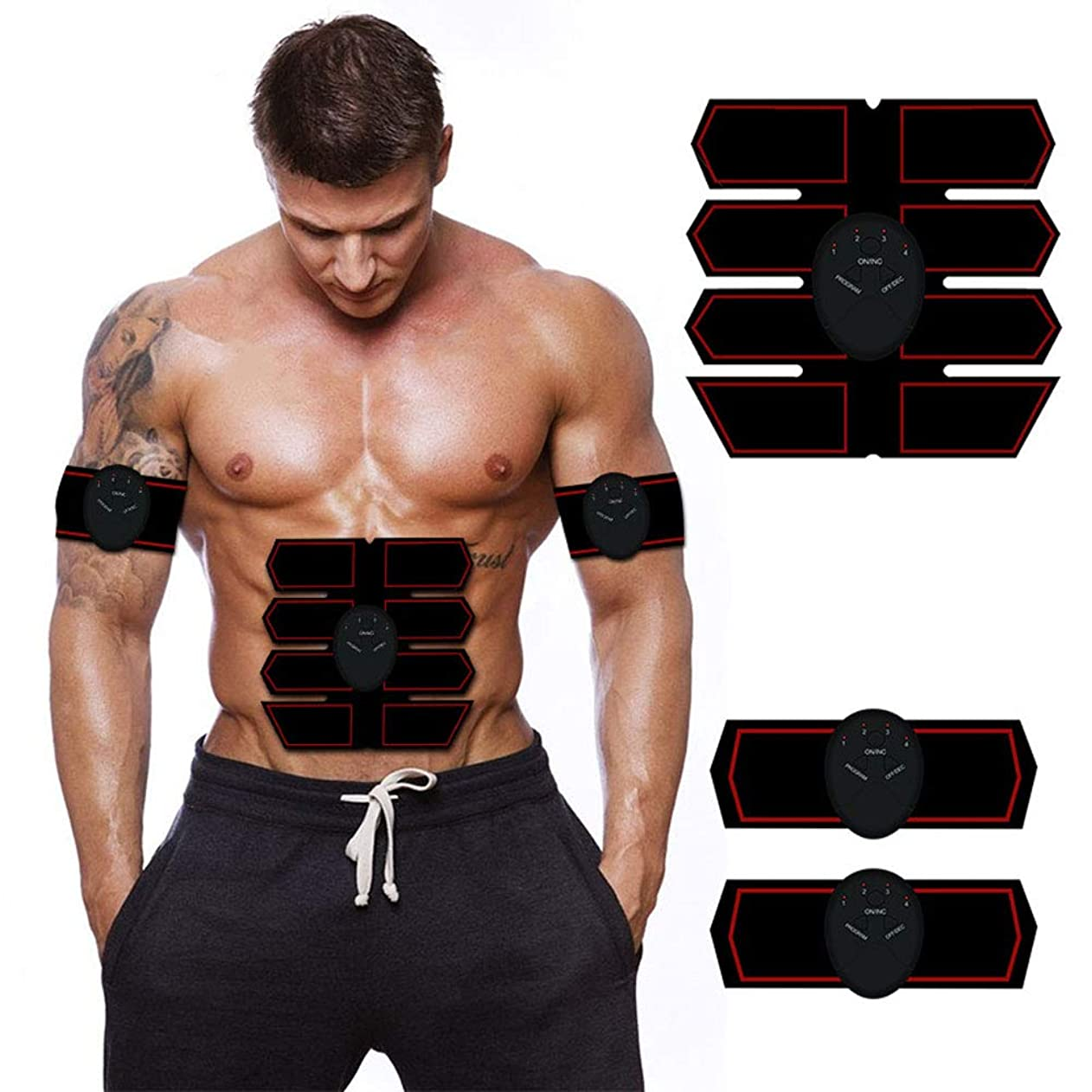 腹筋トレーナー筋肉刺激器, Ems 腹筋刺激剤筋肉トナー, ポータブルマッスルトレーナー, 腹部の調子のベルト, の 男性?女性