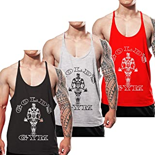 Alivegear Men's Stringer Bodybuilding Gym Tank Tops Y Back Cotton