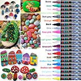 Pedy 22 Colors Paint Marker Pens for Rock Painting, Metal, Ceramic, Glass, Wood, Canvas Painting, Professional Medium Tip, Non-toxic, No Odor, Quickly Dry, Long Lasting, Water Resistant