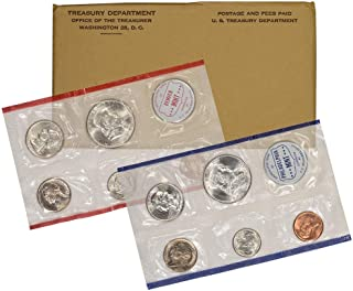 1960 US Mint 10-Coin Uncirculated Silver P&D Mint Coin Set in OGP BU