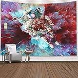 WERT Astronaut Series Tapiz Arte Pared impresión Digital Manta de Pared Pintura Dormitorio decoración de la habitación Tapiz Colgante de Pared A2 150x200cm