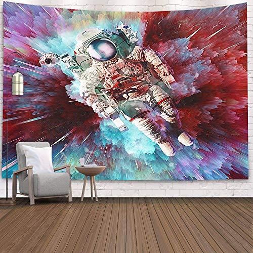 WERT Astronauta Espacial Rectangular Art Tapiz de Pared Estera de Viaje Manta de Playa Decoración del hogar Tapiz Tela de Fondo A8 180x200cm