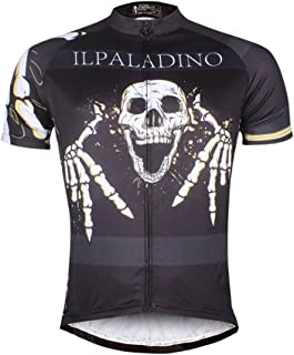 ILPALADINO Cycling Jersey Crazy Skull Bike Shirt