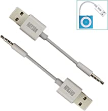 RAYSUN 2 Pack 11cm(L) 2 in1 USB Charging and Data Syncing Cable for Apple iPod Shuffle 3rd / 4th / 5th