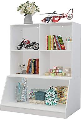 GDLF Toy Organizer Storage Kids Bookshelf Cubby Bookcase Playroom Storage Cabinet Display Collection