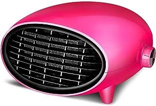 NFJ-LYR Ventiladores bajo Consumo,Calefactor Ventilador,Protección sobrecalentamiento,Calefactor Portátil,Termostato Regulable,Calefactor bajo Consumo electrico,2 Modos (Color : Pink)