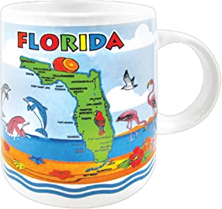 Mug - Florida Map Souvenir 11 oz Coffee Mug - Ceramic