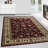 Teppich Orientteppich Wohnzimmer Klassische Optik Orientalisch Ornamente Rot, Maße:200 cm x 290 cm