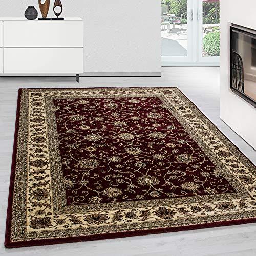 Teppich Orientteppich Wohnzimmer Klassische Optik Orientalisch Ornamente Rot, Maße:300 cm x 400 cm