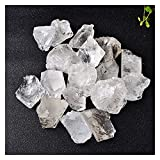 YSJJDRT Cristal Natural Rugoso Piedra Lunar Natural Labradorita Cristal áspero Especímenes minerales Decoración del hogar Decoración de Piedra de Acuario (Color : White Crystal, Size : 25 30g)