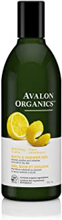 Avalon Organics Bath & Shower Gel, Refreshing Lemon, 12 Oz