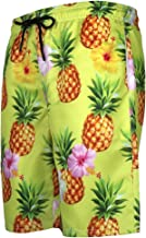 Allywit Mens Swim Trunks 3D Pineapple Print Graphic Casual Athletic Beach Short Pants Shorts Big and Tall