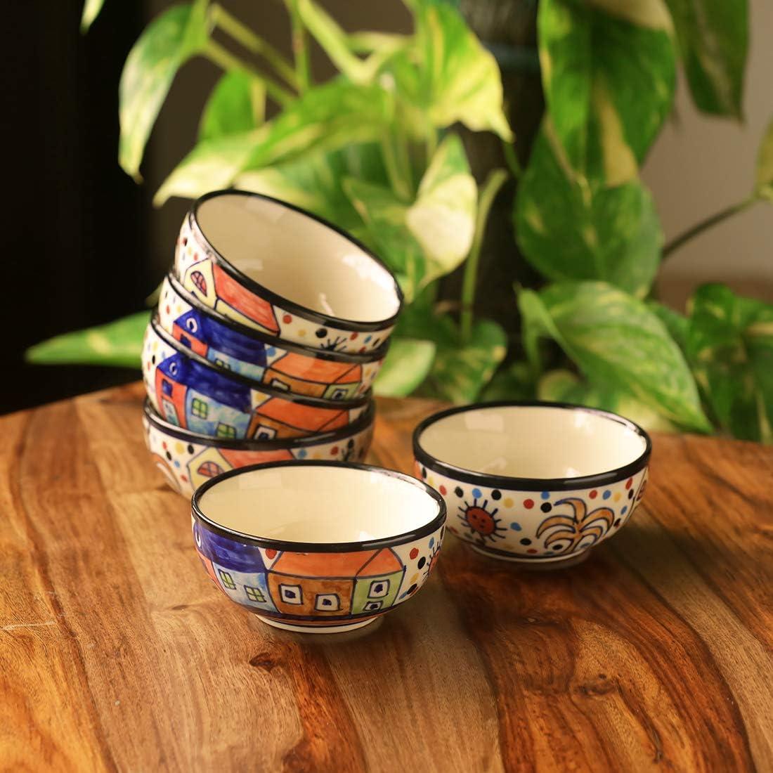 ExclusiveLane The Serving Hut Overseas parallel import regular item Cheap SALE Start Goblets Cereal Ceramic Set 6 Bowl