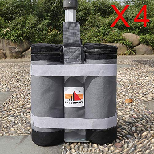 ABCCANOPY Super Heavy Duty New Premium Instant Shelters Weight Bags (55 lbs/Bag) - Set of 4 - Gray/Black