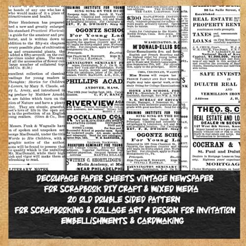 Compare Textbook Prices for decoupage paper sheets vintage newspaper for scrapbook DIY craft & mixed media 20 old double sided pattern for scrapbooking & collage art 4 design ... papercraft magazine antique brown newspaper  ISBN 9798515782788 by lafiorp, deemak