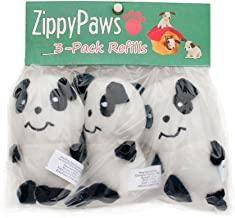 ZippyPaws - Zoo Friends Burrow, Interactive Squeaky Hide and Seek Plush Dog Toy - Panda Miniz, 3 Pack