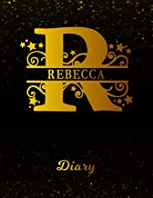 Rebecca Diary: Letter R Personalized First Name Personal Writing Journal | Black Gold Glittery Space Effect Cover | Daily Diaries for Journalists & ... Taking | Write about your Life & Interests