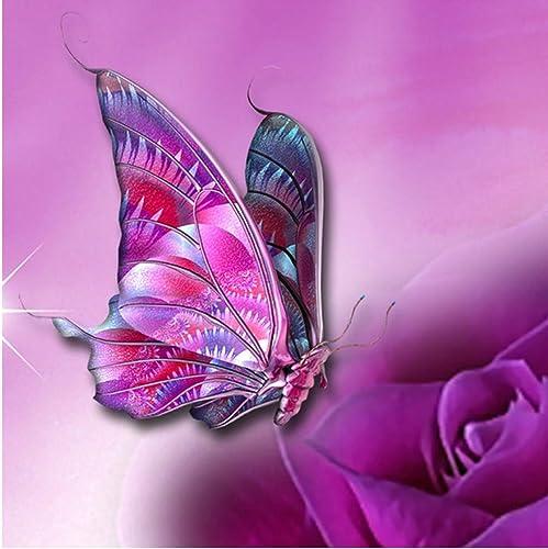 hasta un 65% de descuento XIGZI 5D DIY Diamond Kits de de de Punto de Cruz Pintura Mariposa Amor Patrón de Flores Regalo Decoración del Hogar Sin Marco  Para tu estilo de juego a los precios más baratos.