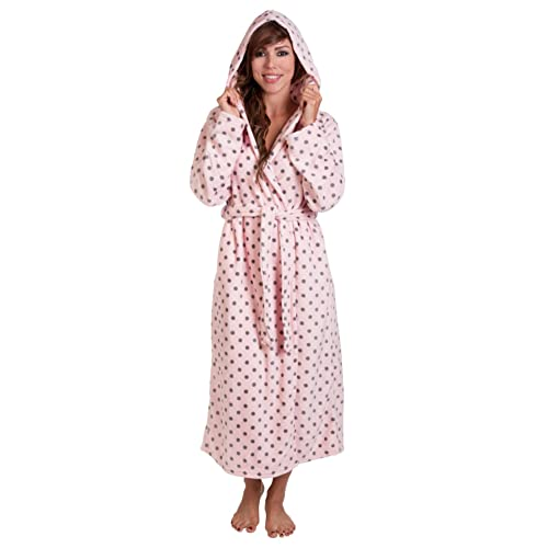 Hoodie Robe Plush Hooded Robe Spa Bathrobe Hoody Robe Long Robe … 8bf973f79