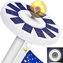 48 LED Solar Flagpole Light, LBell 800 Lux Downlight Lighting for 15 to 25 Ft Flag Pole Topper. Three Models Brightness to...