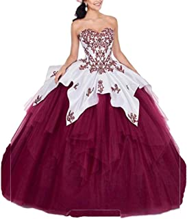 Sweetheart Embroidery Quinceanera Dress Beaded Ball Gown Sweet 16 Prom Ball Gowns