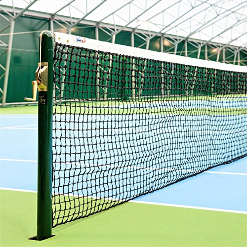 Vermont 3.5mm DT Championship Tennis Net [22lbs] | 42ft Doubles ITF Regulation | Tennis Accessories Sports Netting | Doubles Tennis Net with Tennis Headband (Wimbledon Headband (42ft), Double Loop)