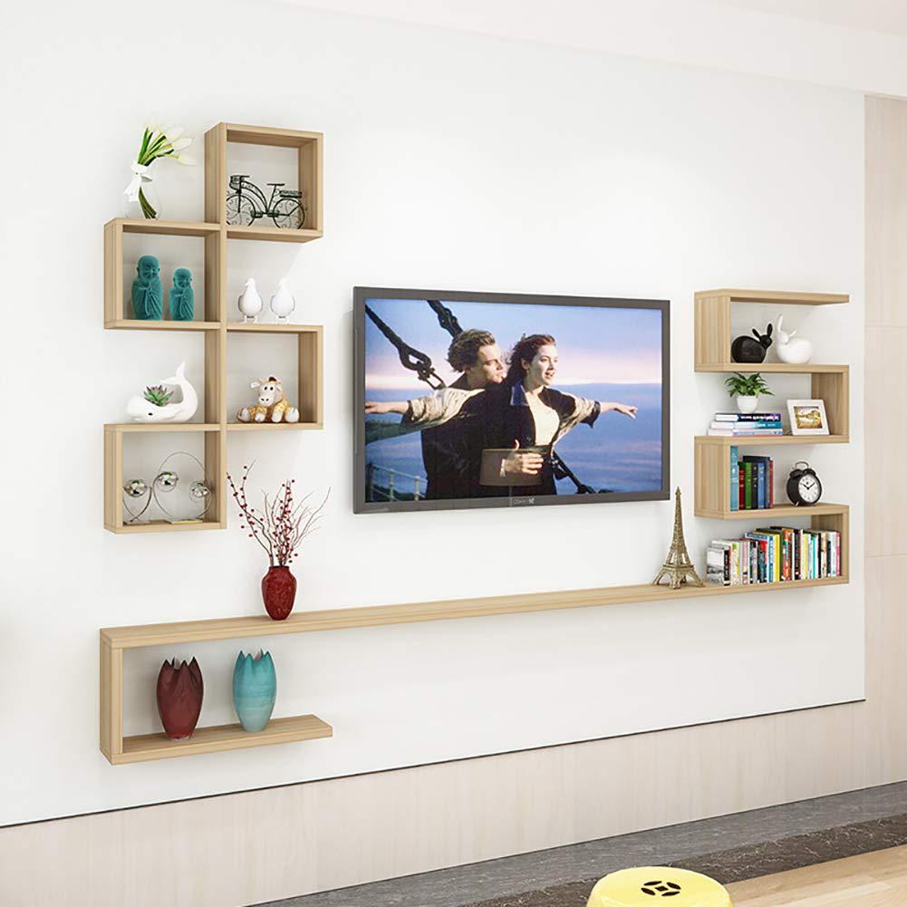 SLMY - Mueble de TV con Pared para Colgar en el salón, Madera, 3 ...