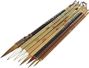 Set da 8 pezzi di pennelli artistici cinesi professionali, 8 pcs with mat