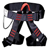 Climbing Harness,Ounuo Protect Leg Waist Wider Safe Seat Belts for Mountaineering Outward Band Fire Rescue, Expanding Training, Rock Climbing Rappelling Equip,Women Man Child Half Body Guide Harness