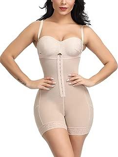 MASS21 Womens Tummy Control Shapewear Butt Lifter Bodysuit Plus Size Beige-4XL
