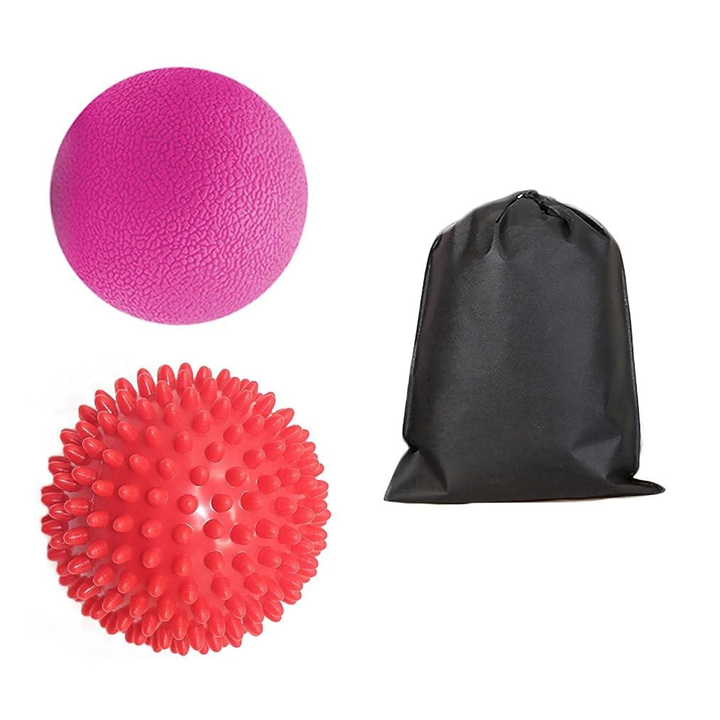 早く表面的な政府Migavan 1個マッサージボールマッサージボールローラーマッサージボール+ 1袋スパイクマッサージローラーボールマッサージと収納バッグ