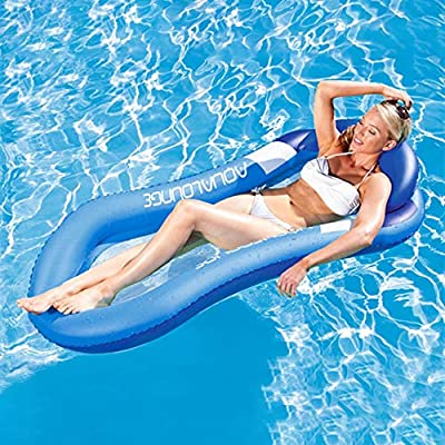 YOATOO Pool Float with Canopy, Adult Inflatable Pool Float Float Raft with Shade Water Lounge