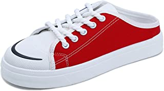 A-LING Womens Fashion Canvas Shoes Lace up Thick Bottom Sneakers