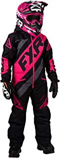 FXR Youth CX Monosuit 2020 (Black/Charcoal/Fuchsia - Size 16)