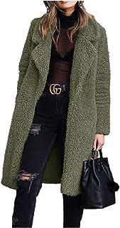 Howely Women Fall & Winter Lapel Plush Outwear Long-Sleeve Coat
