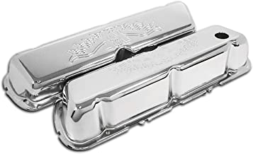 Fits 1986-1995 Ford 302 5.0L Fox-Body Mustang Steel Valve Covers V8 Logo