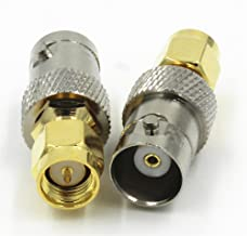 BNC Female jack to SMA Male Plug RF Coaxial Adapter Connector Quick USA Shipping