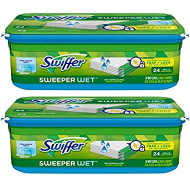 Swiffer Sweeper Wet Mopping Cloth Refill - Open Window Fresh - 24 wet cloths - 2 pk