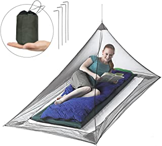 Sohapy Mosquito Net for Single Camping,Travel,Single Camping Bed - Gray