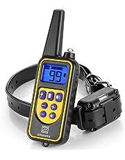 無駄吠え防止首輪 Z ZANMX しつけ用首輪 充電式 トレーニングカラー IPX7防水 犬の訓練首輪 全犬種対応 ビープ音/バイブレーション/静電ショック LEDライト付き 一年保証付き リモートコントロール 300メートル通信可能 悩み解消グッズ ペットにやさしい訓練用具