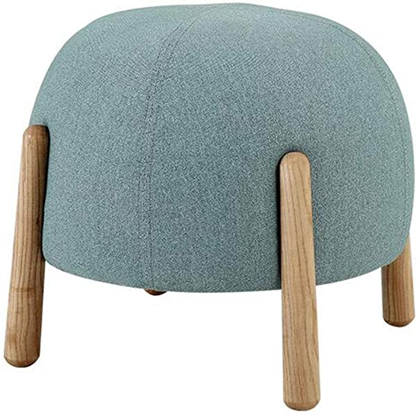 OUG Solid Wood Stool Simple Stool Practical Wear Resistant Strong Load Bearing Wooden Material Environmental Protection Suitable For Everyone Suitable For Bedroom Living Room Color Optional 42x38cm