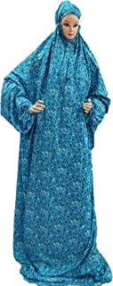 One Piece Islamic Prayer Dress with elastic hold overhead Mishmer for women.